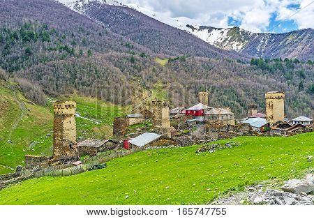 The Towers In Caucasus