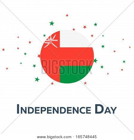 Independence Day Of Oman. Patriotic Banner. Vector Illustration.