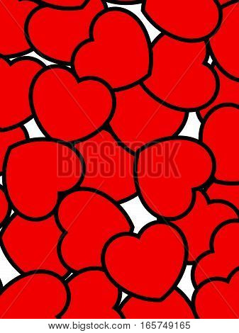 Love Pattern For Saint Valentine's Day, High Definition Backdrop