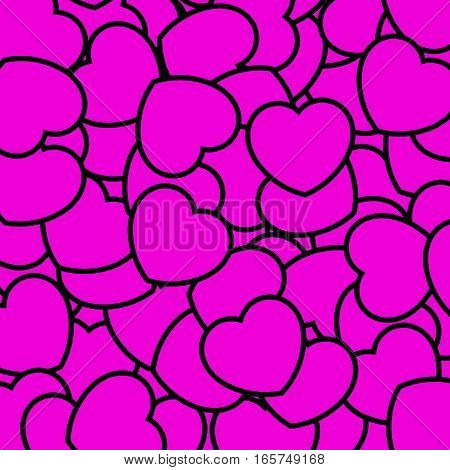 Romantic Pattern For Saint Valentines Day, Greeting Design