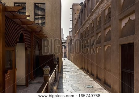 old narrow streets of the ancient eastern city