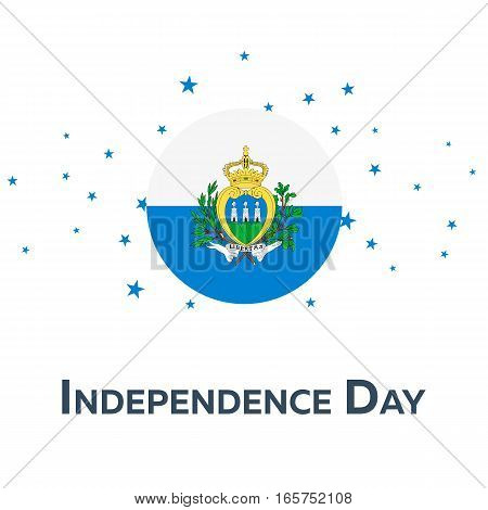Independence Day Of San Marino. Patriotic Banner. Vector Illustration.