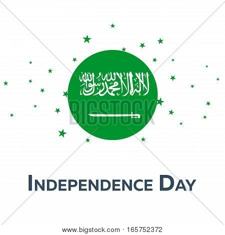 Independence Day Of Saudi Arabia. Patriotic Banner. Vector Illustration.