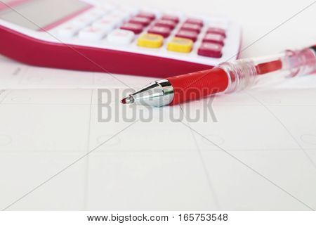 notebook monthly planner and calculator for financial