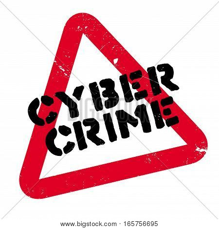 Cyber Crime rubber stamp. Grunge design with dust scratches. Effects can be easily removed for a clean, crisp look. Color is easily changed.