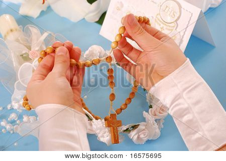 First Holy Communion-rosary