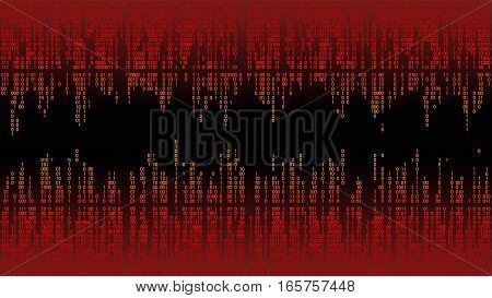 Abstract with digital lines, binary code, matrix background with digits, frame