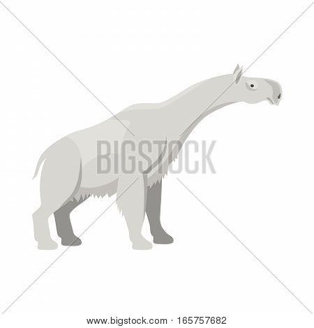 Prehistoric animal. Vector cartoon ancient mammal ice age extinct indricotherium