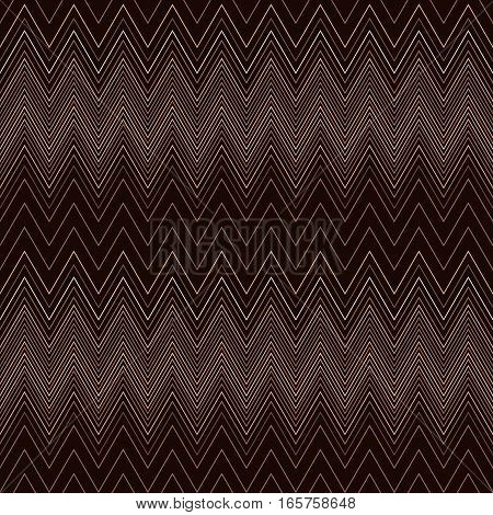 Seamless zigzag hatch pattern. Geometric stripy background. Wedged, striped, line lace texture. Stockings, lingerie, hosiery, garter, undies material theme. Brown, beige soft colored. Vector