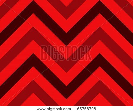 Seamless geometric strip pattern. Stripy texture. Zig-zag line background. Diagonal strips. Red, black, dark and light, contrast colors. Winter theme. Vector