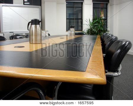 Meeting Room Table Closeup