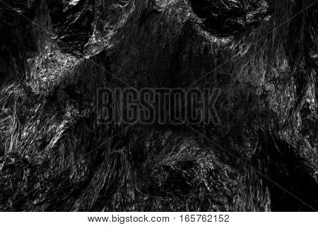 abstract dark black stone surface background texture effect