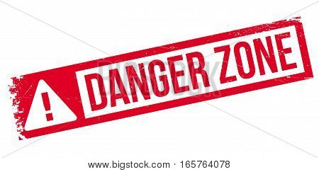 Danger Zone rubber stamp. Grunge design with dust scratches. Effects can be easily removed for a clean, crisp look. Color is easily changed.