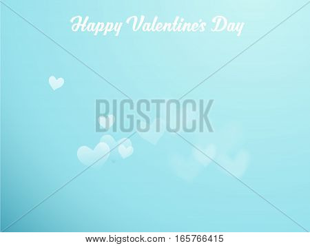 Dream with hearts on blue sky and Happy Valentine's Day wishes