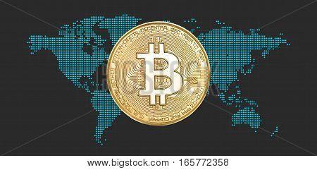 Bitcoin. Electronic Money Concept