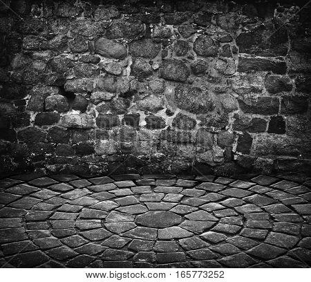 Empty Grunge Stone Room