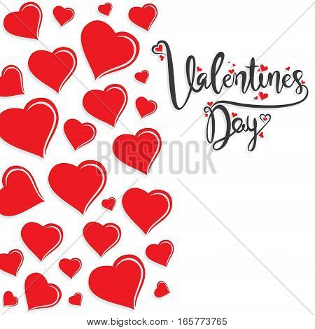 creative valentine's day design red heart shape pattern poster design