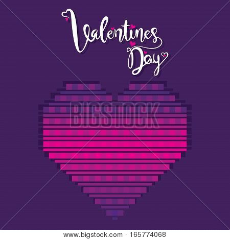 creative valentine's day poster design by pink color square pattern