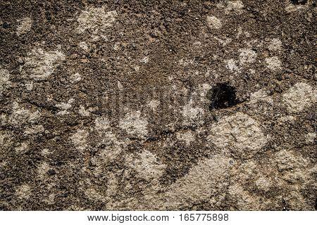 Asphalt, asphalt texture, scabrous asphalt background, gray asphalt, oil slick
