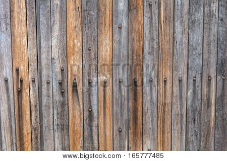 Grunge Wood panels for background old door stock photo