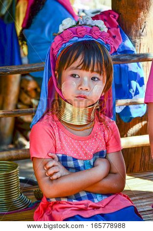 Long-necked Kayan Girl In Thailand
