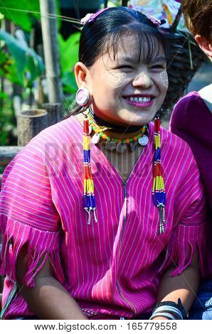 Kayan Woman In Thailand Hill Village