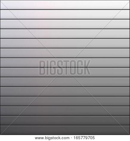 Vector gradient line background. Abstract grey-line wallpaper. Storage door.