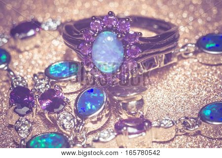 Blue Opal Ring Filtered
