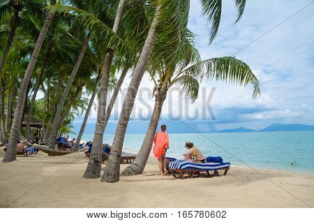 Beautiful Tropical Island Beach Of Koh Samui, Thailand