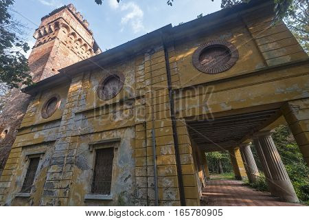 Monza (Brianza Lombardy Italy) : the park in autumn. The old mill of Cantone