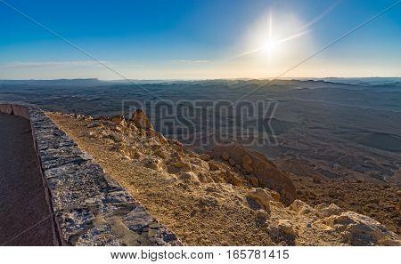 Sunrise At Ramon Crater (makhtesh) Hdr