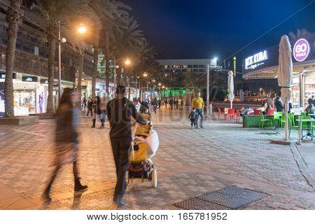 People Enjoying The Eilat Promenade