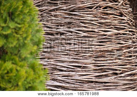 Woven rattan for pattern and background photo.