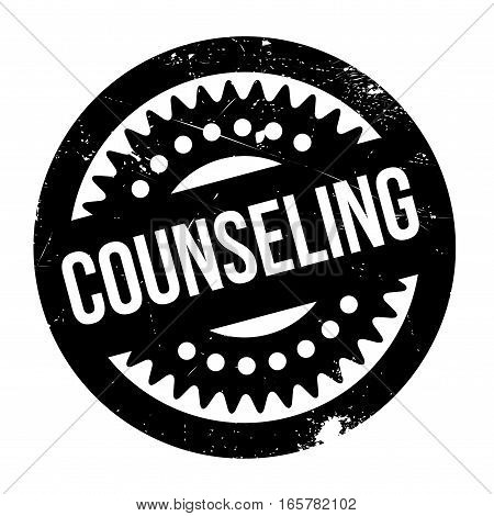 Counseling rubber stamp. Grunge design with dust scratches. Effects can be easily removed for a clean, crisp look. Color is easily changed.