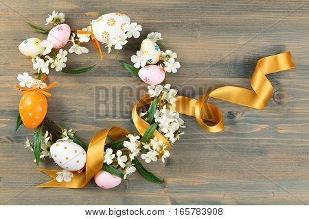 Easter Eggs Wreath.