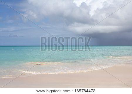 Paradise beach in Antigua island Caribbean Sea