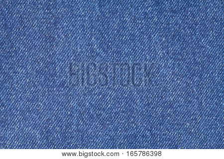 Blue denim jeans cloth as background, horizontal view