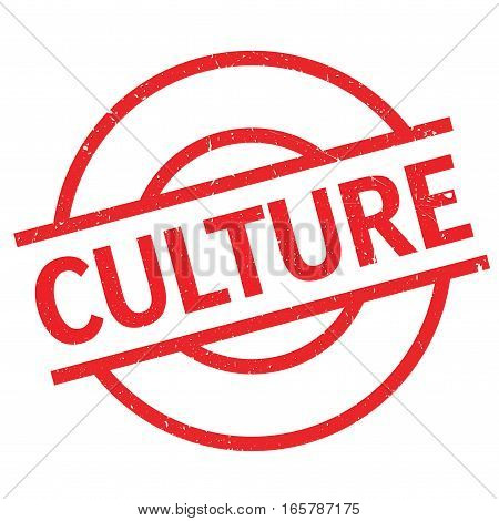 Culture rubber stamp. Grunge design with dust scratches. Effects can be easily removed for a clean, crisp look. Color is easily changed.