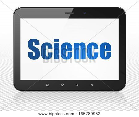 Science concept: Tablet Pc Computer with blue text Science on display, 3D rendering