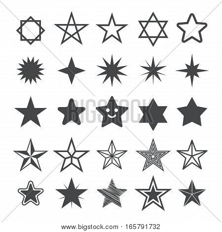 Star flat icons. Sign Star. Vector logo for web design, mobile and infographics. Vector illustration eps 10. Isolated on white background. Set