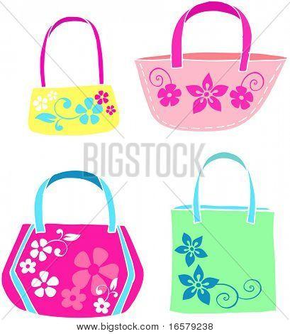 Beach Bags Vector Illustration