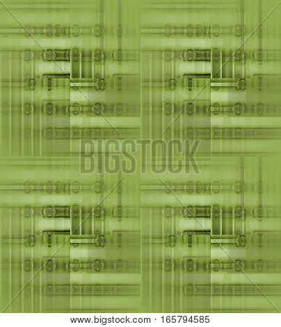 Abstract geometric seamless background single color. Regular ellipses and stripes pattern in light green shades blurred and shifted.