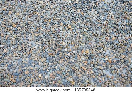 abstract background with dry round pebble stones