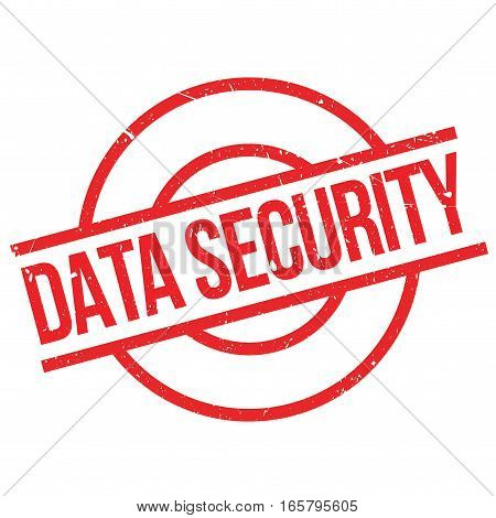 Data Security rubber stamp. Grunge design with dust scratches. Effects can be easily removed for a clean, crisp look. Color is easily changed.