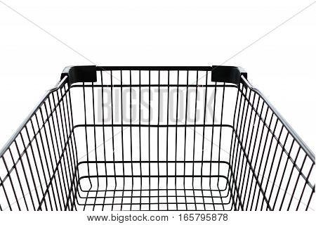 Shopping car black isolate on white background