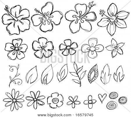 Skizzenhafte Doodle tropischen Vektor-Illustration