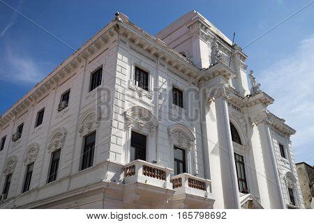 June 15, 2016 Panama City, Panama: renovated colonial architecture in Casco Viejo in Panama City