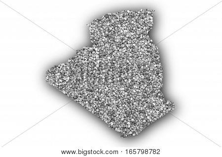 Map Of Algeria On Poppy Seeds