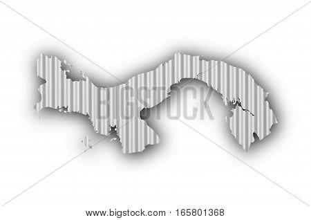 Map Of Panama On Corrugated Iron