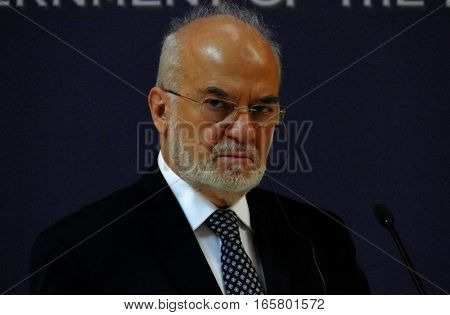 Belgrade, Serbia. January 19Th 2017: Iraq Foreign Minister Dr Ibrahim Al Jaafari In Official Visit T